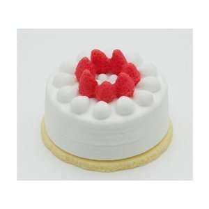 Strawberry White Whip Cream Round Birthday Short Cake Toys & Games