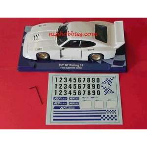 Fly   Capri Racing w/Decals White Slot Car (Slot Cars