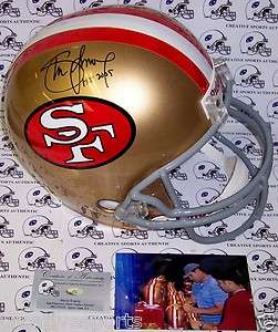 STEVE YOUNG SIGNED SAN FRANCISCO 49ERS FULL SIZE HELMET HOF 2005