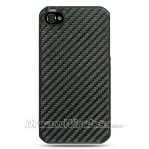 Black Carbon Fiber Fabric Crystal Snap on Case  Rear Only