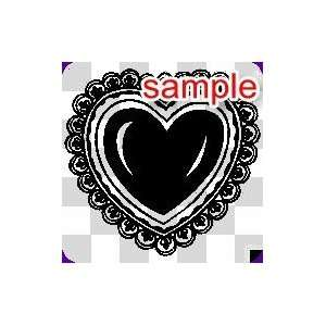 RANDOM HEART WITHIN A HEART 10 WHITE VINYL DECAL STICKER