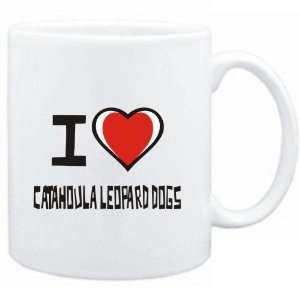 Mug White I love Catahoula Leopard Dogs  Dogs