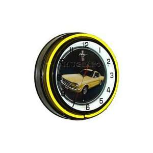 Ford Mustang, Neon Clock, Bright Double 18 inch Neon