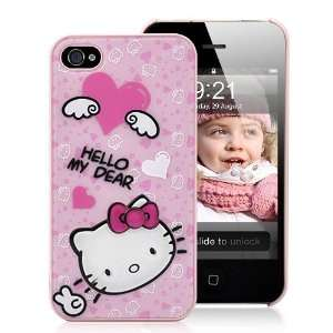 Cute Hello Kitty Pattern Hard Case For iPhone 4 and 4S