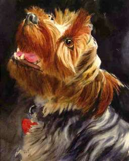 Original Yorky Yorkshire Terrier Dog Painting Art