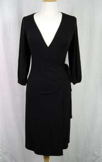 Laundry By Shelli Segal Jersey Wrap Dress In Black   S