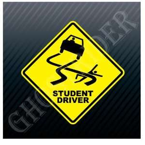 Student Driver Warning Caution Sign Car Trucks Sticker