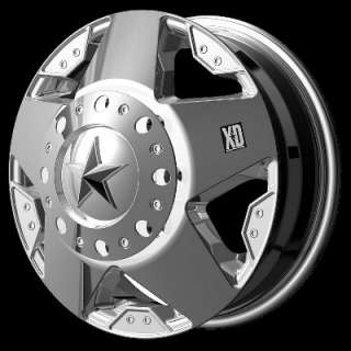 Inch Wheels Rims Ford F350 Truck Dually Chrome 8x170 8 lug XD Rockstar
