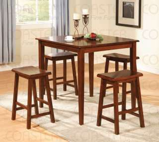 Walnut 5 pc Pub Dining Table Set   C150292