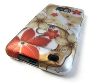 RED GOLD FALL FLOWERS HARD CASE COVER ATT SAMSUNG GALAXY S II 2 i777
