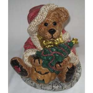 Boyds Bear Grenville The Santa Bear Cookie Jar Numbered