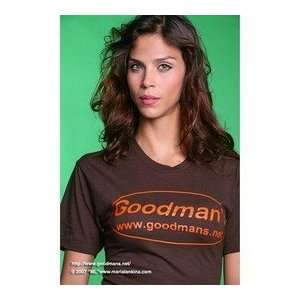 Goodmans BROWN American Apparel T Shirt EXTRA SMALL