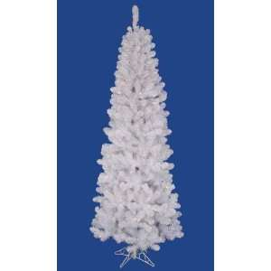 Pre Lit LED White Salem Pine Pencil Artificial Christmas Tree