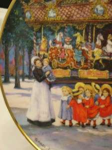 CAROUSEL EXCITEMENT   SANDI LEBRON FRANKLIN MINT PLATE