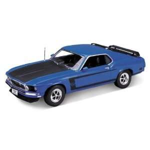 Blue) diecast car model american classic design boss 302 Toys & Games