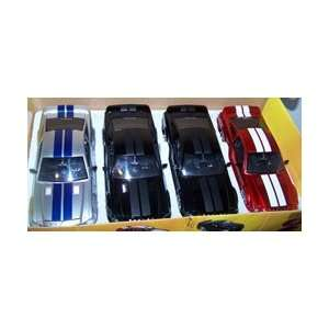 Diecast Big Time Muscle 2008 Shelby Gt 500kr Box of 3 Colors 4 Cars