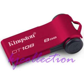 Kingston 8GB 8G USB Flash Drive DataTraveler RED DT108