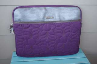 70 NWT FOSSIL BRAND KEY PER PURPLE QUILTED LAPTOP NETBOOK COVER CASE