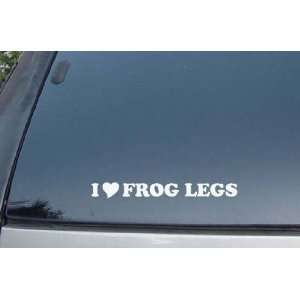I Love Frog Legs Vinyl Decal Stickers
