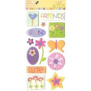 DCWV ST 010 00011 Nanas Kids Epoxy Stickers Girl Arts