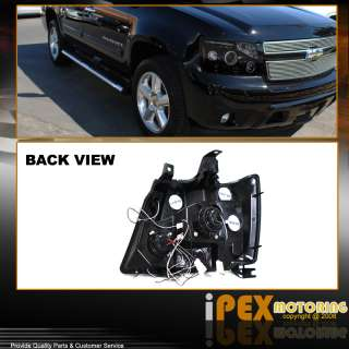 07 11 Chevy Suburban Tahoe Avalanche Glossy Smoked Halo LED Projector