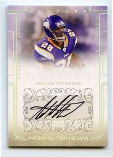 Adrian Peterson 2007 National Treasures Silver RC Auto x/49