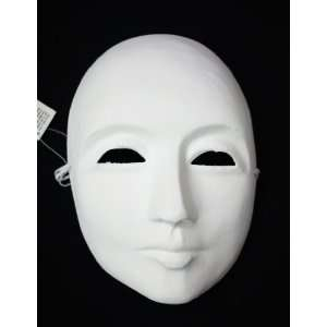 Mens Undecorated Blank White Venetian Whole Face Mask