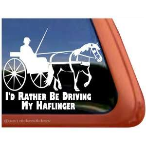 Haflinger Horse Driving Horse Trailer Vinyl Window Decal