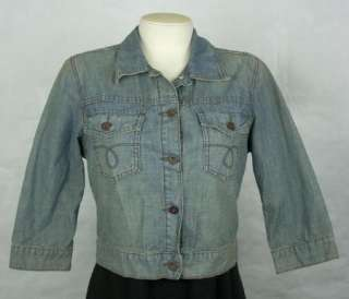 LUCKY BRAND Womens Denim Jean Jacket size M