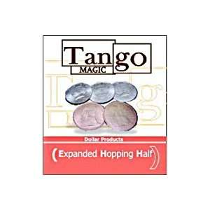 Hopping Half Expanded Shell Tango Coin Magic Trick Set
