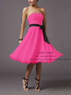 Formal Bridesmaid Evening Cocktail Ball Prom Dress Gown