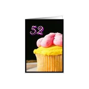 Happy 52nd Birthday muffin Card Toys & Games