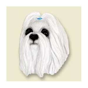 Shih Tzu Dog Magnet   White