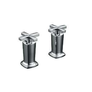 High Flow Bath Valve Trim with Cross Handles, Valve Not Included
