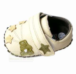 New Infant Baby Boys Leather Stars Velcro Soft Sole Shoes 3 18 months