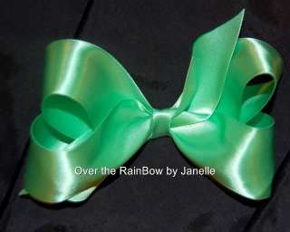 Hand Sewn Girl Large Satin Hair Bows 5 inch U Pick NWT
