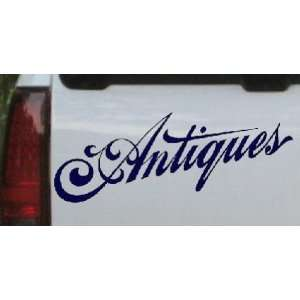 Antiques 3 Swirl Business Car Window Wall Laptop Decal Sticker    Navy