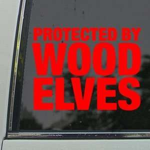 Protected By Wood Elves Red Decal Truck Window Red Sticker