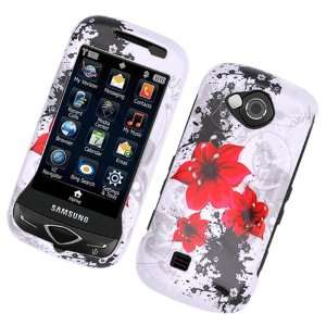 White with Red Lily Flower Design Snap on Hard Skin Shell