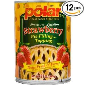 MW Polar Foods Strawberry Pie Filling, 21 Ounce Cans (Pack of 12)