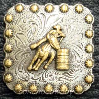WESTERN SADDDLE GOLD BARREL RACER BERRY CONCHO 1 3/8