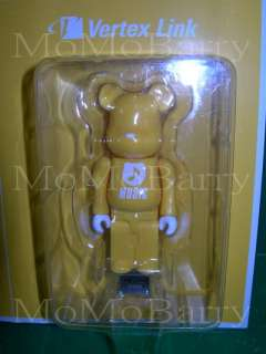 medicom bearbrick 512mb usb flash memory yellow music ref ek118