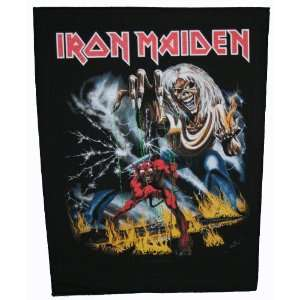XLG Iron Maiden Number Of The Beast Woven Back Jacket