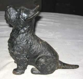 RARE ANTIQUE HUBLEY SCOTTISH TERRIER DOG CAST IRON HOME ART STATUE