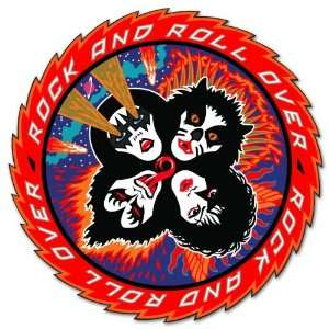 KISS RocknRoll Over car bumper sticker decal 5 x 5