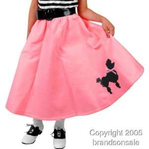 Childs Pink Poodle Skirt (Size X Small 4 6) Toys