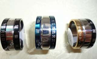 wholesale jewelry mixed lots 30pcs calendar stainless steel rings free