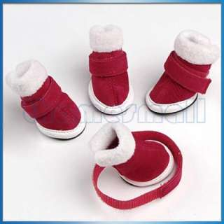 Warm Walking Pet Dog Cozy Shoes Boots Clothes Apparel 1
