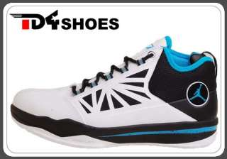 Nike Jordan CP3.IV White Orion Blue Air Chris Paul Basketball Shoes 3