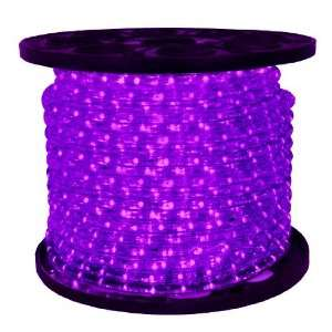 Purple   LED Rope Light   1/2 in.   2 Wire   120 Volt   148 ft. Spool